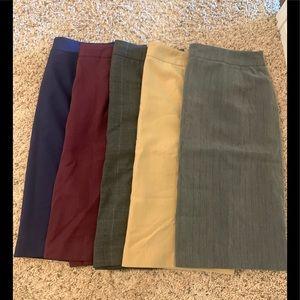 Chadwicks pencil skirt lot size 8P fall winter